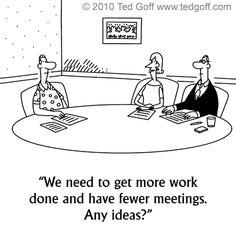 #Meeting humor: cartoon by Ted #Goff