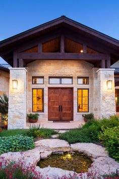 Hill Country Custom Home - rustic - entry - austin - Dawn Hearn Interior Design