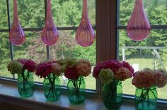 I loved these carnations that I ordered as decoration for a graduation party.