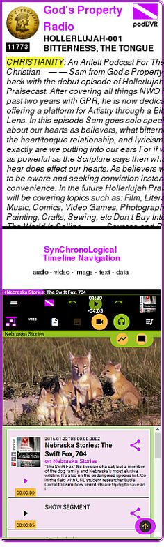 #CHRISTIANITY #PODCAST  God's Property Radio    HOLLERLUJAH-001 BITTERNESS, THE TONGUE AND LYRICISM    LISTEN...  http://podDVR.COM/?c=079b1cb4-2675-f9d3-1937-b69933488eeb