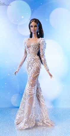 Barbie Wedding Dress, Barbie Dress, Wedding Dresses, Fashion Royalty Dolls, Fashion Dolls, Cooler Look, Barbie And Ken, Beautiful Dolls, Fashion Advice