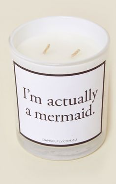Damselfly New Bohemian Clothes I'm Actually A Mermaid Candle