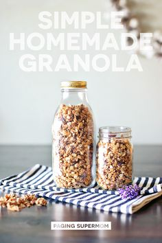How to Make Granola - healthy and homemade recipe via @PagingSupermom
