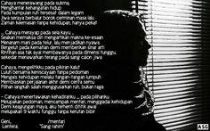 Jakarta, Puisi Monokrom l Seberkas Sinaran -ASG-