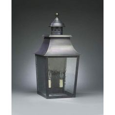 Medium Antique Brass Pagoda Outdoor Wall Lantern with Clear Seedy Glass - (In Antique Brass w/ Clear Seedy Glass)
