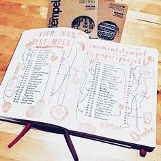 Eine ganz wunderbare Bullet Journal Idee um sich mal einen Überblick über sein Bastel Inventar zu schaffen kommt heute von @bunte.seiten. Danke für dein großes Vertrauen in meine Stempel und natürlich fürs Teilen mit dem #papierprojekt Hashtag.