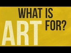 What is art for? Alain de Botton's animated guide - YouTube