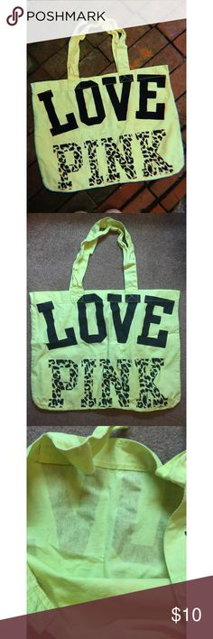 fddae237028a VS PINK Neon Tote Bag VS PINK neon tote bag💛 -Great Bag , oversized