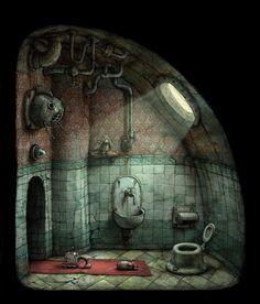 门厅(厕所)|阿道夫·拉克曼