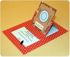 invitation card, template by Kirsty Neale