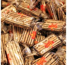 Peanut Butter Logs Candy -- bought plenty of these as a kid . Retro Candy, Vintage Candy, Vintage Toys, My Childhood Memories, Great Memories, Old School Candy, Penny Candy, Favorite Candy, I Remember When