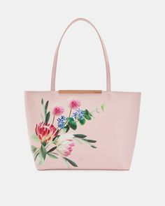 709836bb69 Flourish mini bark leather shopper - Dusky Pink | Bags | Ted Baker ROW  Women's Accessories