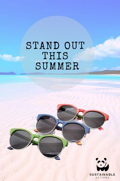 Stand out this summer with our handcrafted bamboo Barbados collection. Available in colors to suit everyones style! Barbados, Sustainability, Bamboo, Action, Suit, Shades, Earth, Sunglasses, Colors