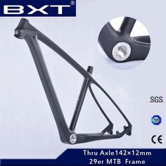 269.70$  Know more - http://aiflq.worlditems.win/all/product.php?id=32499899961 - 2017 BXT brand T800 carbon mtb frame 29er mtb carbon frame 29 carbon mountain bike frame 142*12 or 135*9mm bicycle frame
