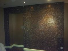 Step by step to adding glitter wall paint. Make Purchase bright paint additives, available in paint or hardware stores.