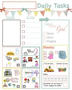 """LDS Planners for Moms: LDS Clipboard Chore Charts - Free Download to go along with """"Entitlement Trap"""""""