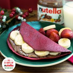 Show off your Christmas colors with red velvet crepes and Nutella®. That's our kind of holiday happiness.