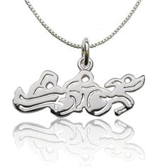 awesome Sterling Silver Swim Bike Run Necklace