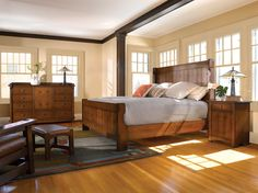 Stickley Gus Settle Bed | Get the latest Stickley Furniture designs at the Heritage House Home Interiors locations in Sarasota and Pinellas Park, FL.