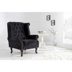 Moderne stoel Chesterfield zwart - 35222
