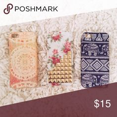 iPhone 5 or 5s case Far left is free people. Other two are from Amazon. Free People Accessories Phone Cases