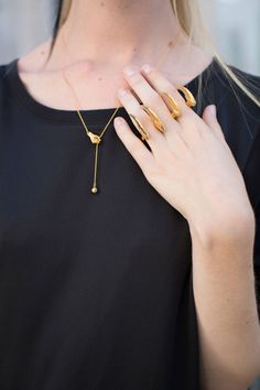 That necklace & ring is amazing! #nyfw Cosmopolitan.com