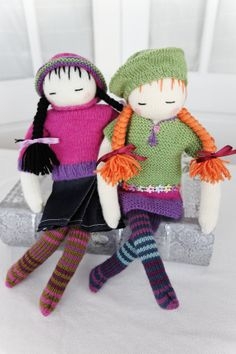 ak traditions knitted dolls kit cloth characters ...