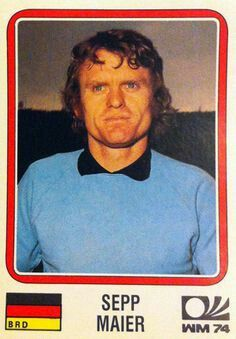 Sepp Maier of West Germany. 1974 World Cup Finals card.