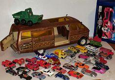 Vintage Hot Wheels diecast cars 1960's-80's, Tonka pressed steel van, 38 pc lot vtg toy vehicles by VtgTreasureTroves on Etsy