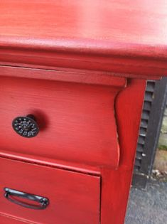 Antique Dresser Makeover: From Drab to Fab � Meet Red Hot Rhetta!