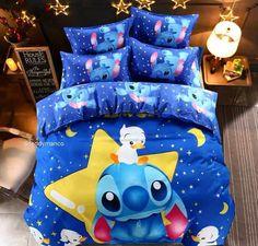 Disney Lilo and Stitch Comforter Cover Bedding Set Full Size Duvet Cover, Comforter Cover, Duvet Cover Sets, Comforter Sets, King Comforter, Lilo Ve Stitch, Lelo And Stitch, Disney Stitch, Star Stitch