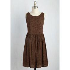 Boho Mid-length Sleeveless A-line Somebody to Lyon Dress ($65) via Polyvore featuring dresses, boho style dresses, sleeveless dress, a line silhouette dress, button back dress and flower dress