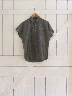 Robert Geller Denim Blue Cotton/Linen Twill Dock Shirt Size S $89 - Grailed