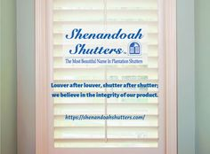 There are many reasons why you should choose Shenandoah for your custom made plantation shutters. Cafe Shutters, Traditional Shutters, Hunter Douglas Blinds, Kitchen Remodel Cost, No Plastic, Made In America, Window Treatments, Hardwood, Tilt