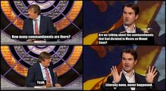 How many commandments are there? - You've got to love Jimmy Carr,  Stephen Fry & QI.