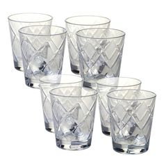 Certified International 8-pc. Double Old-Fashioned Glass Set, Multicolor