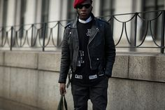 With New York Fashion Week in full swing, the Big Apple's techno-goths were out in full force to attend the Hood By Air Fall/Winter 2016 show.