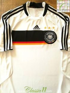 9ff472283 2008 09 Germany Home Football Shirt   Classic Old Soccer Jersey