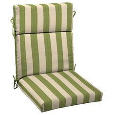 allen   roth�Merrill Stripe Cilantro Standard Patio Chair Cushion - got this to go in the rocking chair we were given for Ben's room. Thought outdoor/all weather material was a good idea considering vomit can just be wiped off with a towel.  PLUS a rocking chair cushion set is over $100, this was $25.