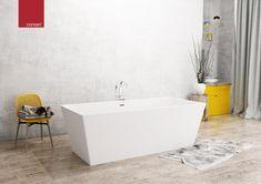 Wanna wolnostojąca Corsan Longa w dużym rozmiarze 170x80cm z korkiem klik-klak w komplecie. #corsan #architektwnetrz #wanny #wanna #bath #frestanding #frestandingbath #designbath #lazienka #łazienka #decoration #interiores #bathroomdetails Cleaning Bathroom Tiles, Ceramic Tile Bathrooms, Concrete Bathroom, Bathroom Renovations, Vanity Countertop, Bathroom Countertops, Stone Countertops, Classic Bathroom Furniture, Bathroom Interior Design