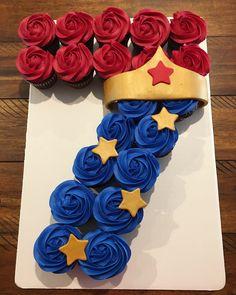 Wonder Woman Birthday Cake, Wonder Woman Cake, Wonder Woman Party, Birthday Woman, Bday Girl, Birthday Cake Girls, Birthday Cupcakes, 6th Birthday Parties, 7th Birthday