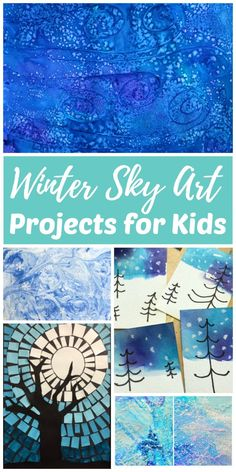 Artists of all ages will be able to find an easy winter sky art project in this collection. Painting winter sky art using all sorts of mixed mediums is a fun way for kids to get creative on snowy or rainy winter days and connect with nature during the colder winter months.