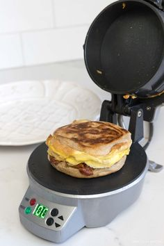 We LOVE this breakfast sandwich maker! So easy and thousands of five star reviews! Add it to your Christmas wish list! Food Huggers, Breakfast Sandwich Maker, Driven By Decor, Recipe Tin, Kitchen Trends, Kitchen Ideas, Good Pizza, Food Storage Containers, Kitchen Gadgets