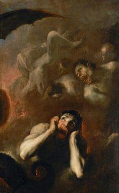 The Fall of the Rebel Angels - Detail, oil on canvas Renaissance Kunst, Renaissance Paintings, Rennaissance Art, Culture Art, Satanic Art, Arte Obscura, Old Paintings, Scary Paintings, Classic Paintings