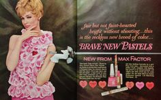 Max Factor 'Brave New Pastels' Cosmetics Ad, 1964