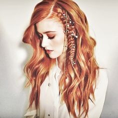 The hottest red hair color of Meet Rustic Copper - it& poised to be one of this year& top hair color trends! Hair By: Justin Dylan Hair Goals Color, Red Hair Color, Red Color, Hair Styles 2016, Curly Hair Styles, Natural Hair Styles, Hairstyles Haircuts, Trendy Hairstyles, Braid Hairstyles