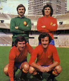 Miguel Ángel, Santillana, Juanito y Del Bosque.