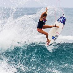 Who runs the world? Girls! Surfer Bethany Hamilton beat some of the worlds top ranked surfers in the World Surf League's Fiji Women's Pro. Way to be a boss! #itsgoodtobeagirl