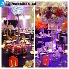 Love seeing the love bird with heart table numbers in action!