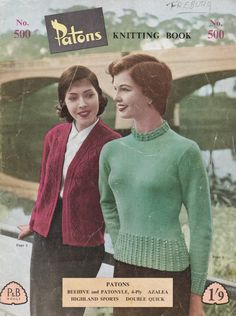 Patons Knitting Pattern For Women/Ladies No 500 by jennylouvintage